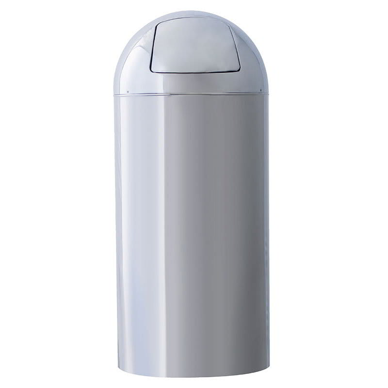Witt 15DT-PM 15-gal Indoor Decorative Trash Can - Metal, Chrome