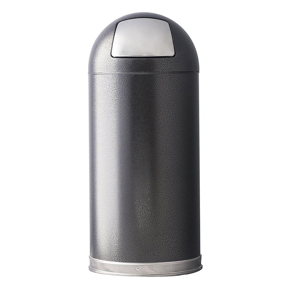 Witt 15DTSVN 15-gal Indoor Decorative Trash Can - Metal, Silver