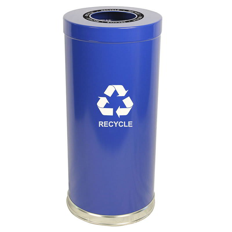 Witt 15RTBL-1H 24 gal Multiple Materials Recycle Bin - Indoor, Decorative