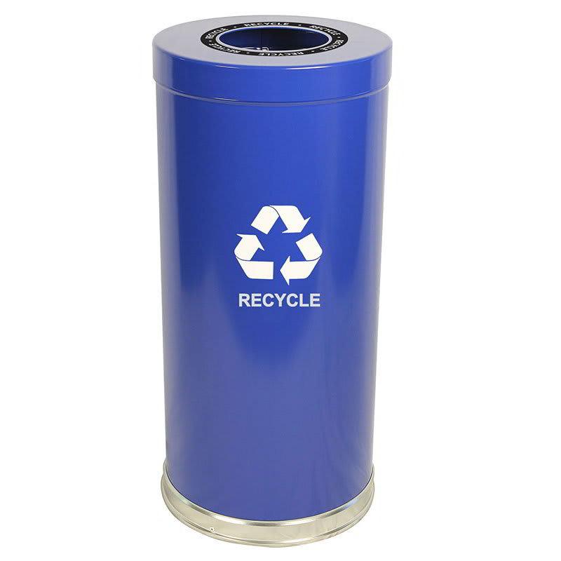 Witt 15RTBL-1H 24-gal Multiple Materials Recycle Bin - Indoor, Decorative