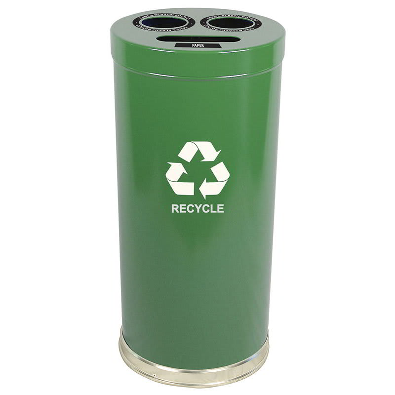 Witt 15RTGN 24-gal Multiple Materials Recycle Bin - Indoor, Multiple Sections, Decorative