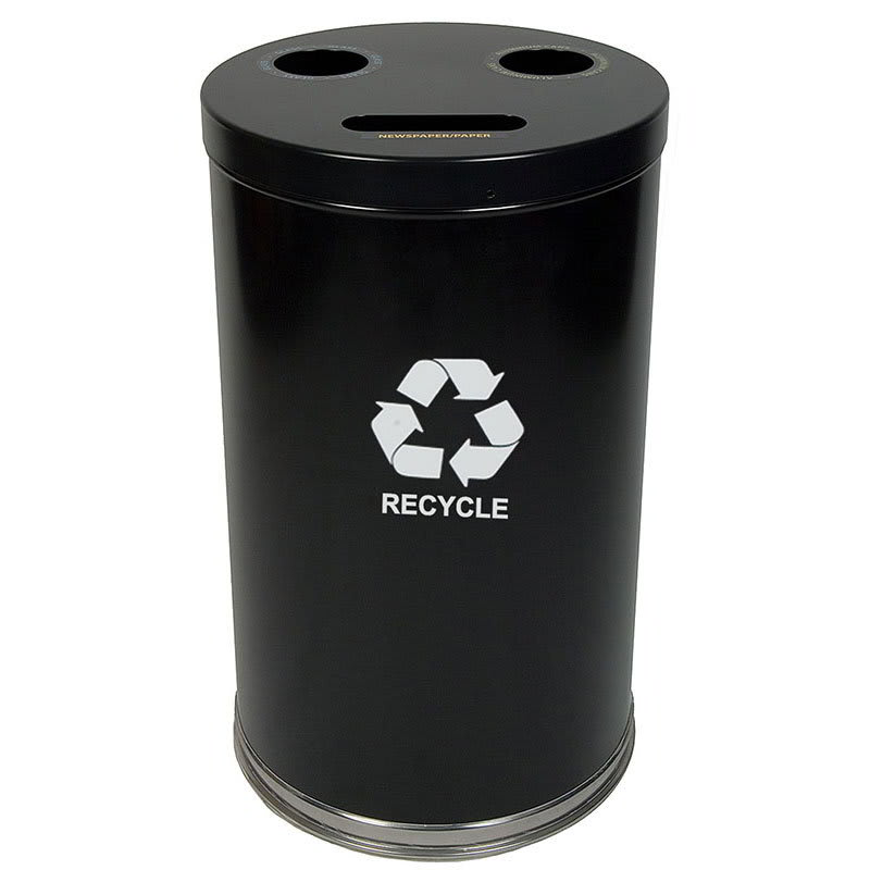Witt 18RTBK 33 gal Multiple Materials Recycle Bin - Indoor, Multiple Sections, Decorative