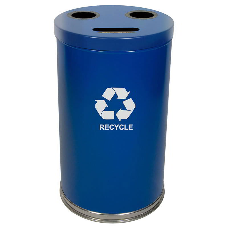 Witt 18RTBL 33 gal Multiple Materials Recycle Bin - Indoor, Multiple Sections, Decorative