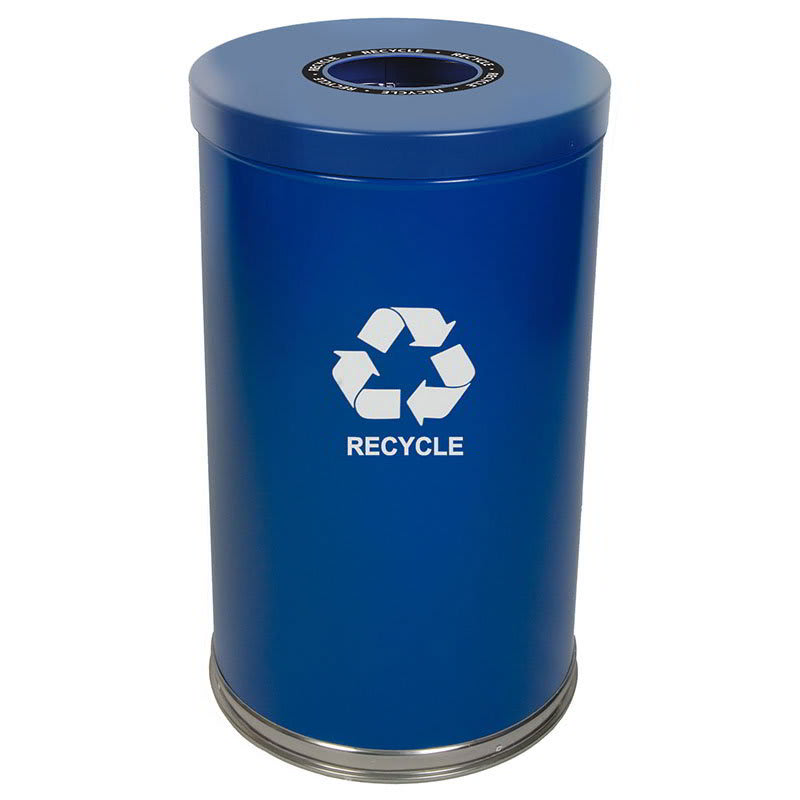 Witt 18RTBL-1H 35-gal Multiple Materials Recycle Bin - Indoor, Decorative