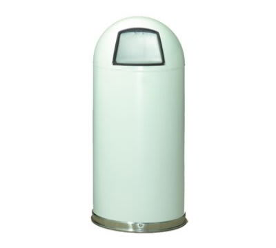 Witt 20DTWH 20-Gallon Standard Indoor Trash Can w/ Dome Top Lid, White Finish