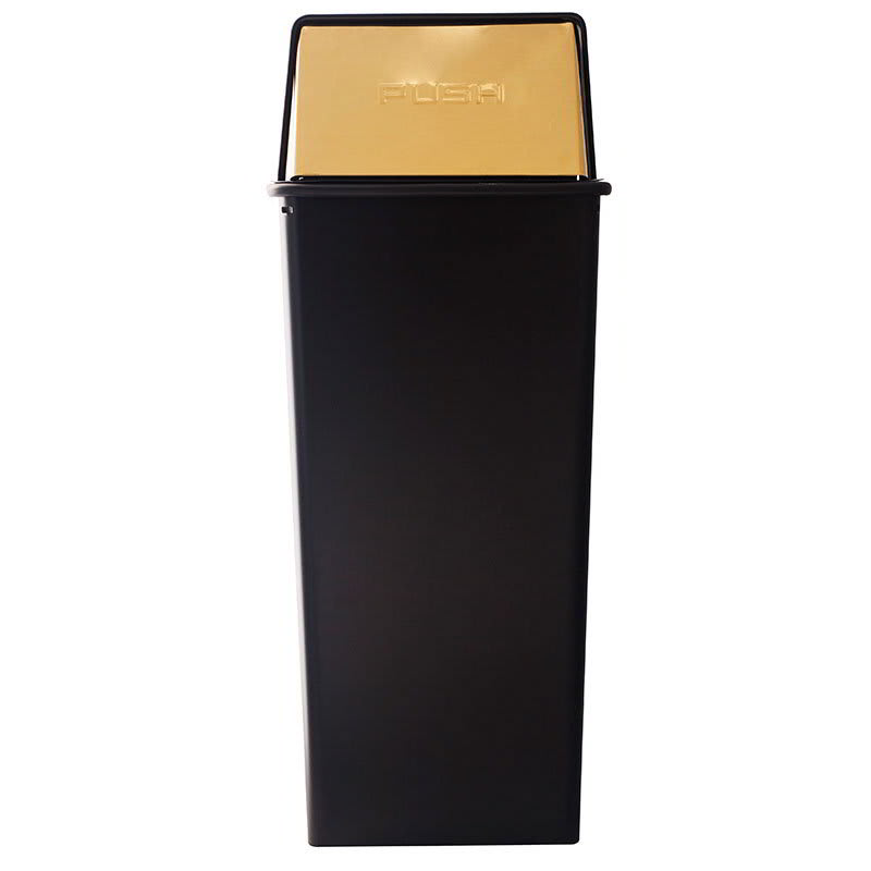 Witt 21HT-11 21 gal Indoor Decorative Trash Can - Metal, Black