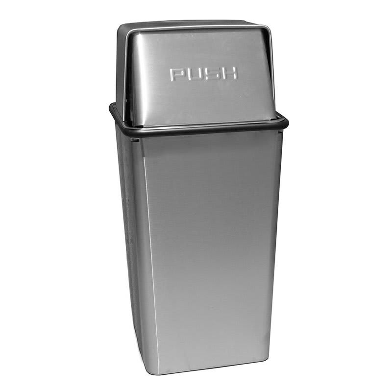 Witt 21HTSS 21 gal Indoor Decorative Trash Can - Metal, Stainless Steel