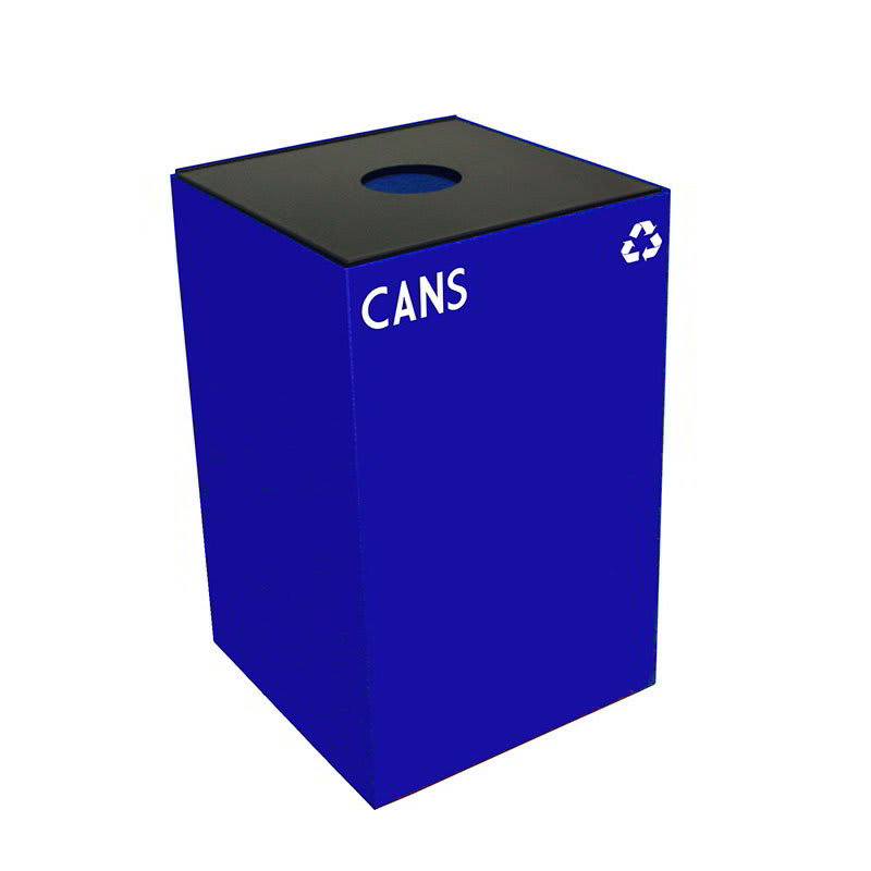 Witt 24GC01-BL 24 gal Cans Recycle Bin - Indoor, Fire Resistant
