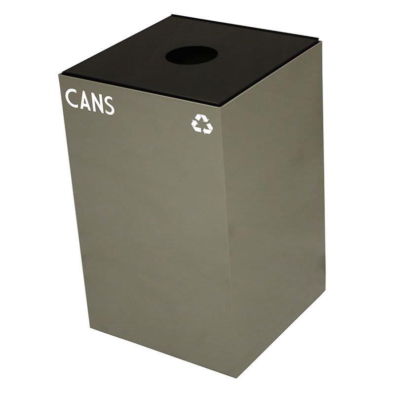 Witt 24GC01-SL 24 gal Cans Recycle Bin - Indoor, Fire Resistant