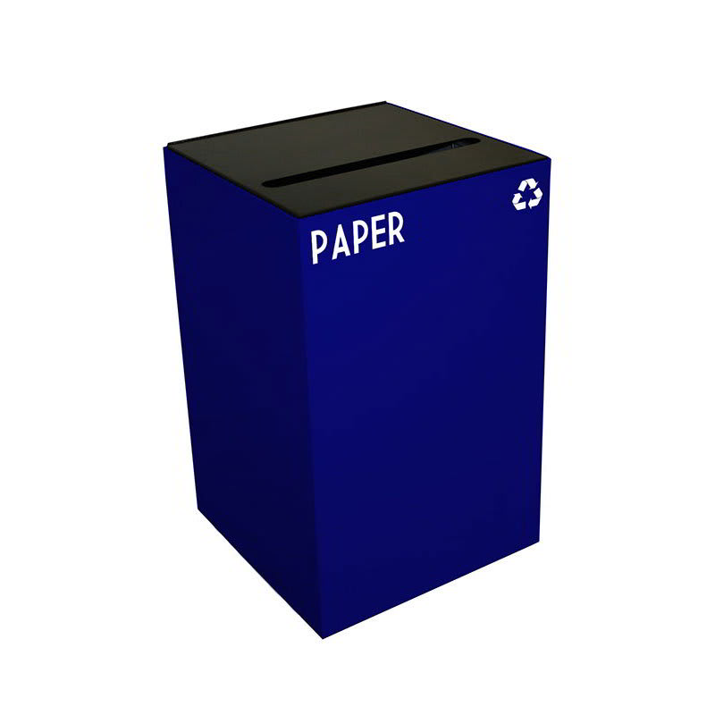 Witt 24GC02-BL 24 gal Paper Recycle Bin - Indoor, Fire Resistant