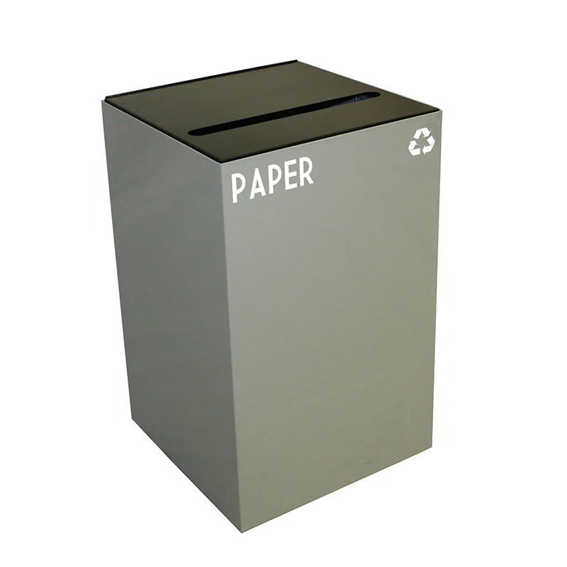 Witt 24GC02-SL 24-gal Paper Recycle Bin - Indoor, Fire Resistant