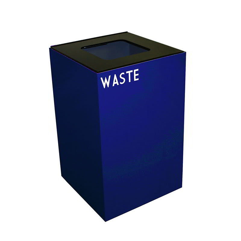 Witt 24GC03-BL 24 gal Indoor Decorative Trash Can - Metal, Blue