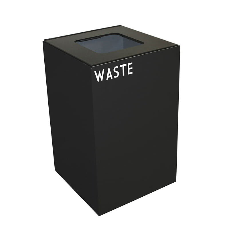 Witt 24GC03-CB 24-gal Indoor Decorative Trash Can - Metal, Charcoal