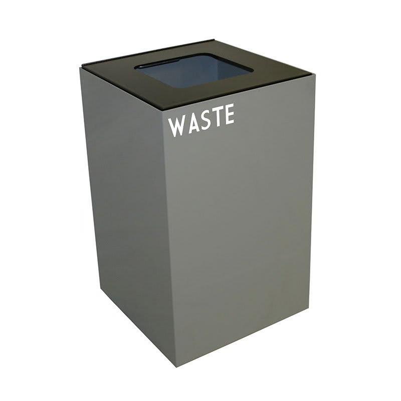 Witt 24GC03-SL 24 gal Indoor Decorative Trash Can - Metal, Slate