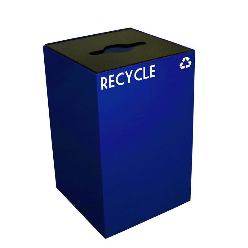 Witt 24GC04-BL 24 gal Multiple Materials Recycle Bin - Indoor, Fire Resistant