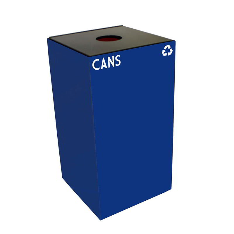 Witt 28GC01-BL 28-gal Cans Recycle Bin - Indoor, Fire Resistant