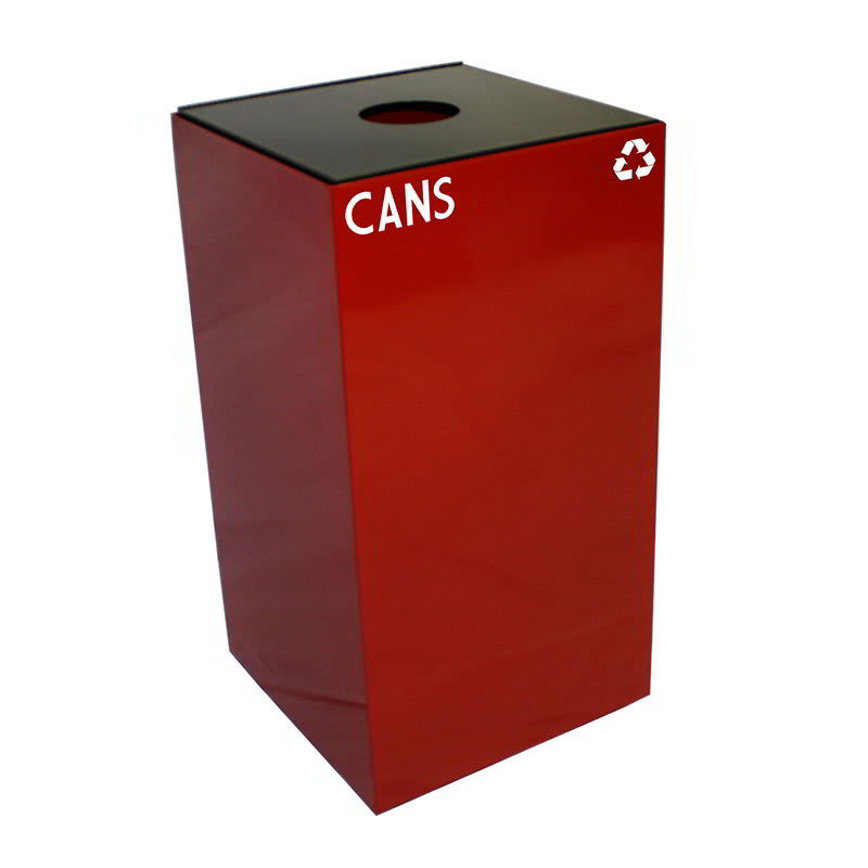 Witt 28GC01-SC 28-gal Cans Recycle Bin - Indoor, Fire Resistant