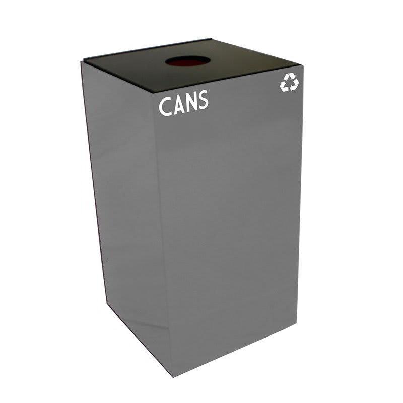 Witt 28GC01-SL 28-gal Cans Recycle Bin - Indoor, Fire Resistant