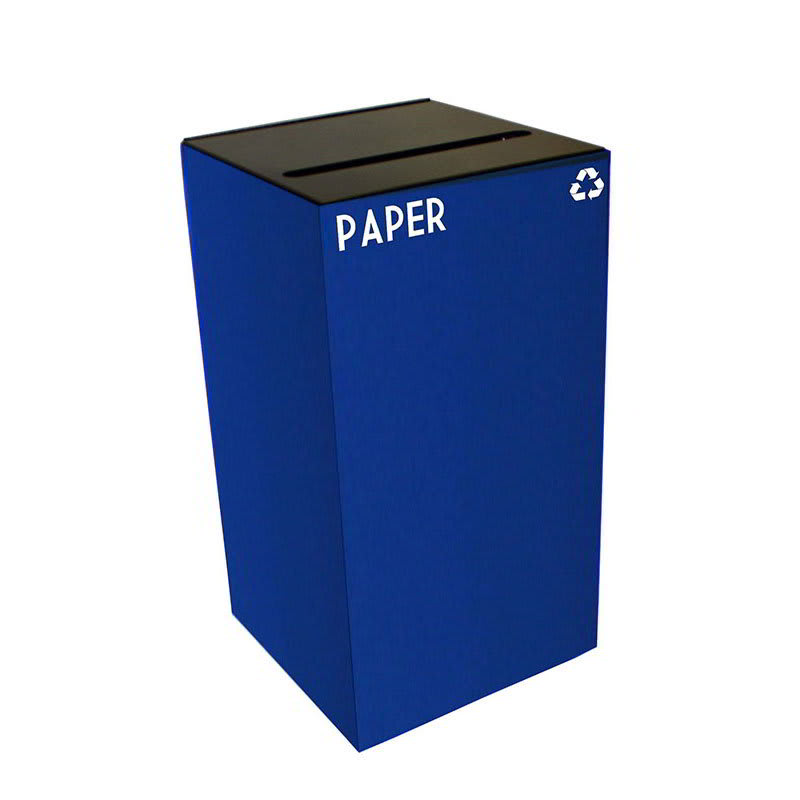 Witt 28GC02-BL 28-gal Paper Recycle Bin - Indoor, Fire Resistant