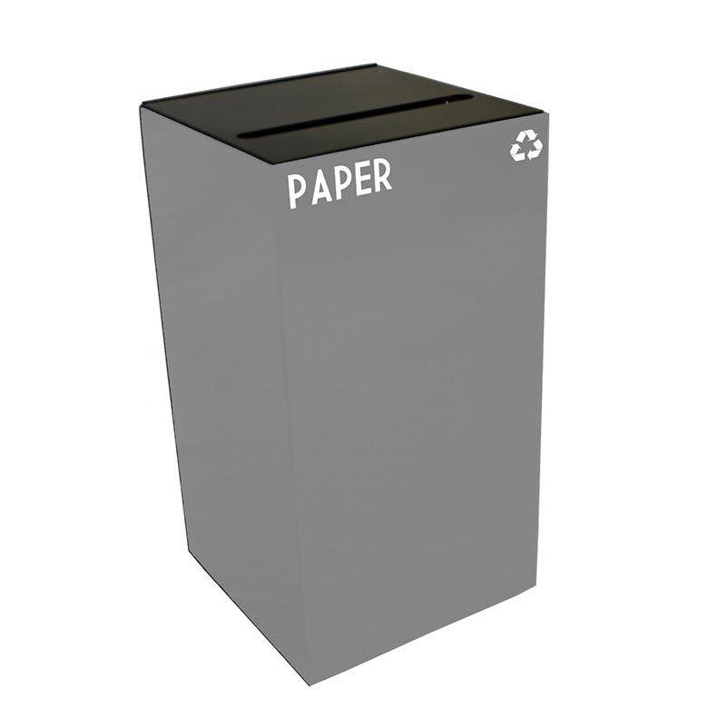 Witt 28GC02-SL 28-gal Paper Recycle Bin - Indoor, Fire Resistant