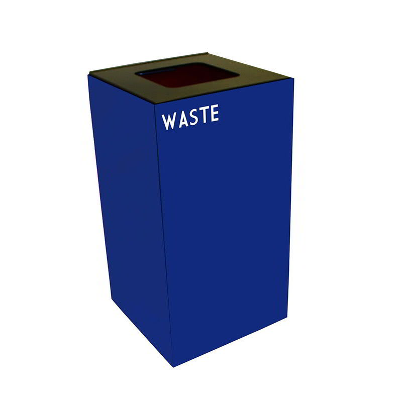 Witt 28GC03-BL 28 gal Indoor Decorative Trash Can - Metal, Blue
