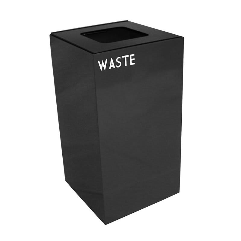 Witt 28GC03-CB 28 gal Indoor Decorative Trash Can - Metal, Charcoal