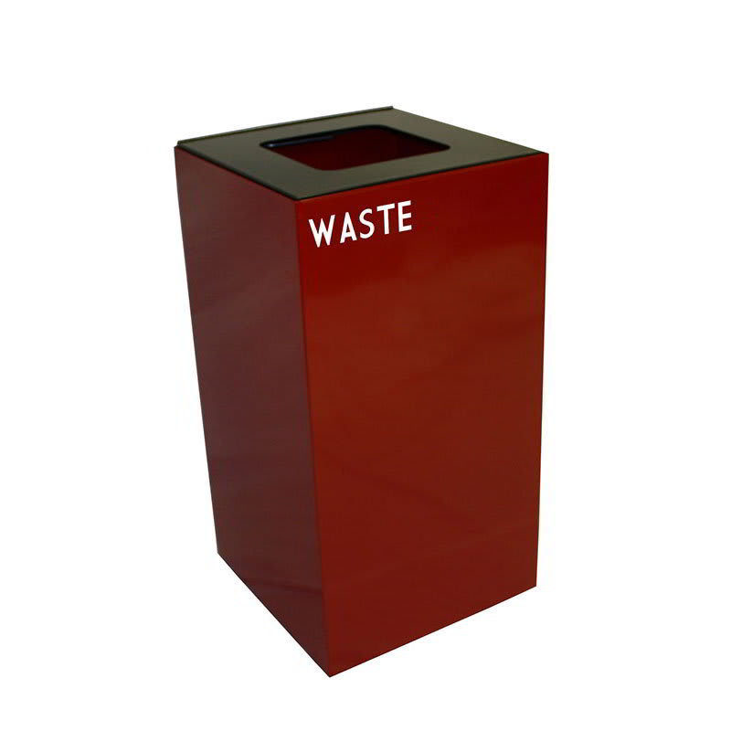 Witt 28GC03-SC 28-gal Indoor Decorative Trash Can - Metal, Scarlet