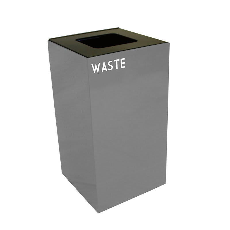 Witt 28GC03-SL 28-gal Indoor Decorative Trash Can - Metal, Slate