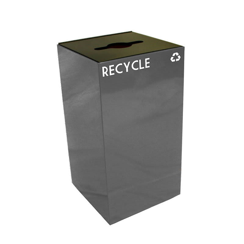 Witt 28GC04-SL 28-gal Multiple Materials Recycle Bin - Indoor, Fire Resistant