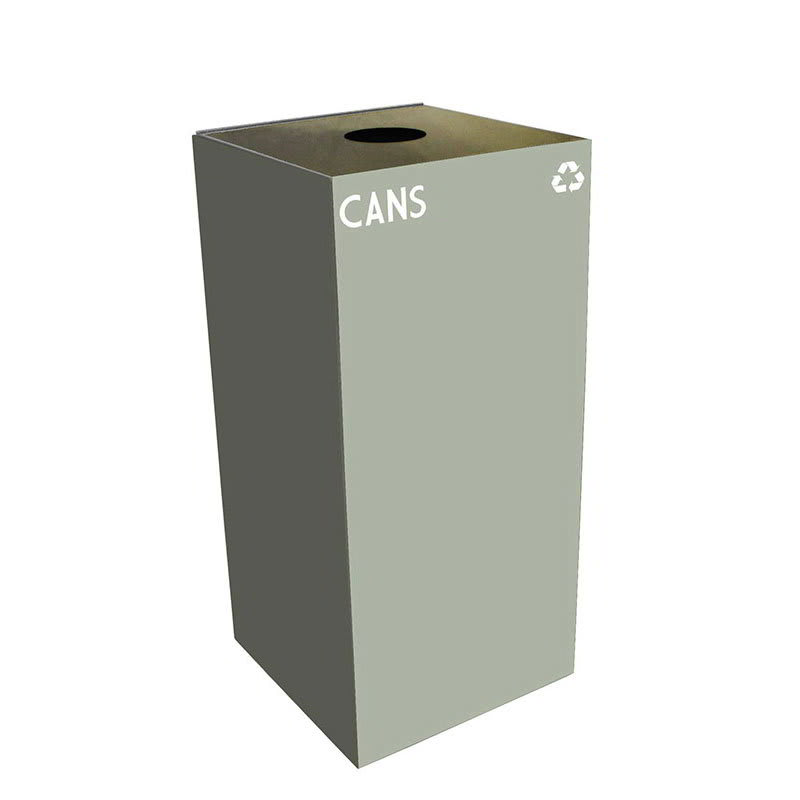 Witt 32GC01-SL 32-gal Cans Recycle Bin - Indoor, Fire Resistant