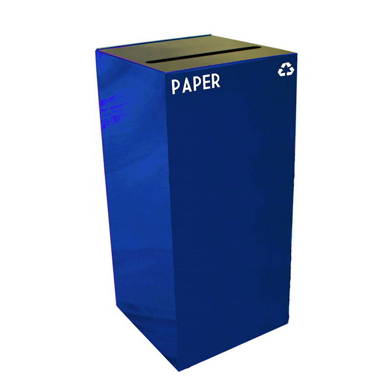 Witt 32GC02-BL 32 gal Paper Recycle Bin - Indoor, Fire Resistant