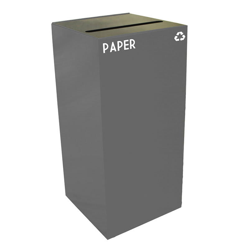 Witt 32GC02-SL 32-gal Paper Recycle Bin - Indoor, Fire Resistant