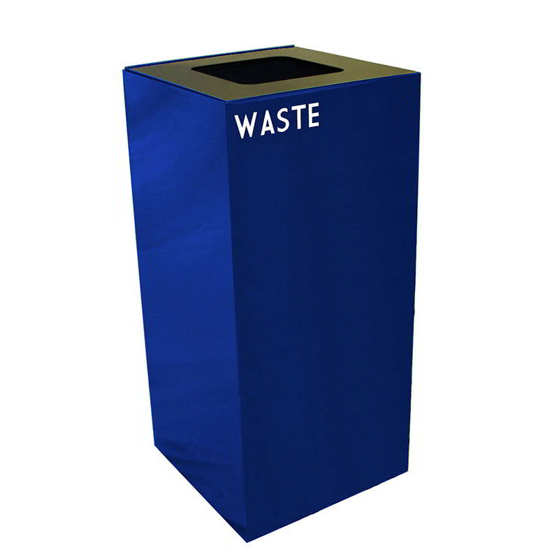 Witt 32GC03-BL 32 gal Indoor Decorative Trash Can - Metal, Blue