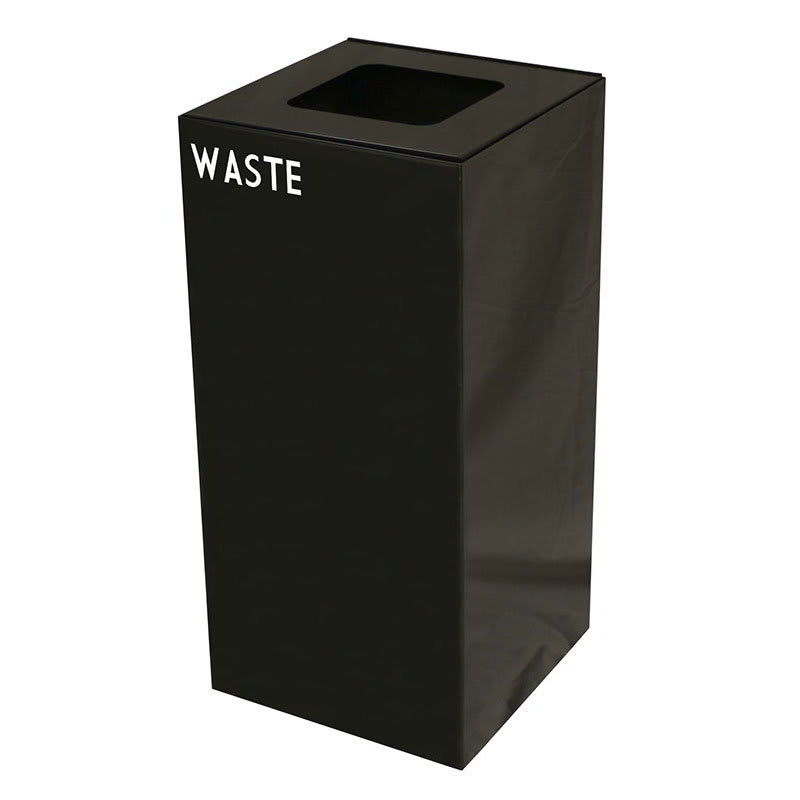 Witt 32GC03-CB 32 gal Indoor Decorative Trash Can - Metal, Charcoal