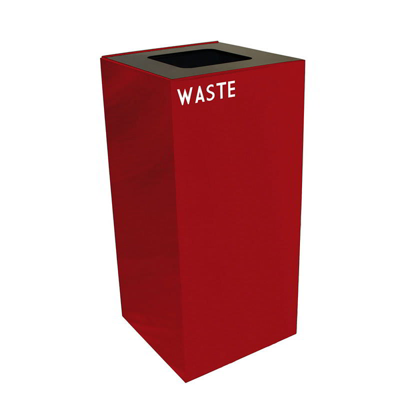 Witt 32GC03-SC 32 gal Indoor Decorative Trash Can - Metal, Scarlet