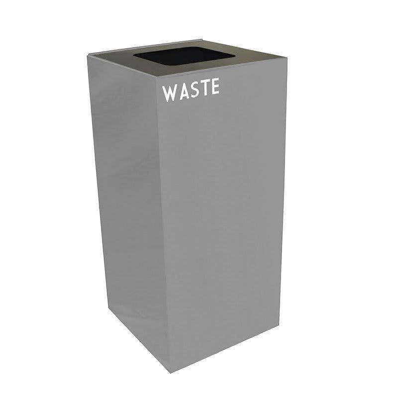 Witt 32GC03-SL 32-gal Indoor Decorative Trash Can - Metal, Slate