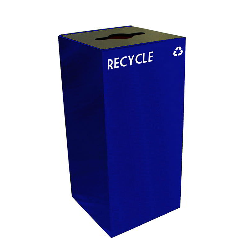 Witt 32GC04-BL 32-gal Multiple Materials Recycle Bin - Indoor, Fire Resistant