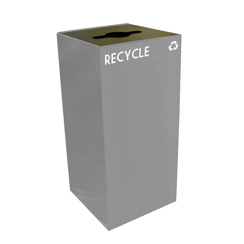 Witt 32GC04-SL 32-gal Multiple Materials Recycle Bin - Indoor, Fire Resistant