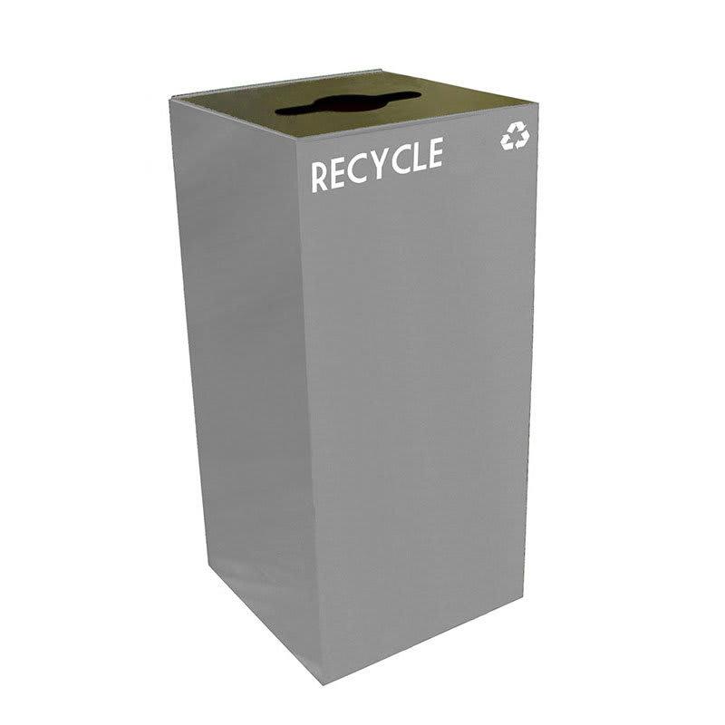 Witt 32GC04-SL 32 gal Multiple Materials Recycle Bin - Indoor, Fire Resistant
