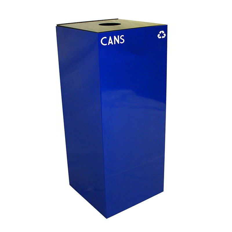 Witt 36GC01-BL 36 gal Cans Recycle Bin - Indoor, Fire Resistant