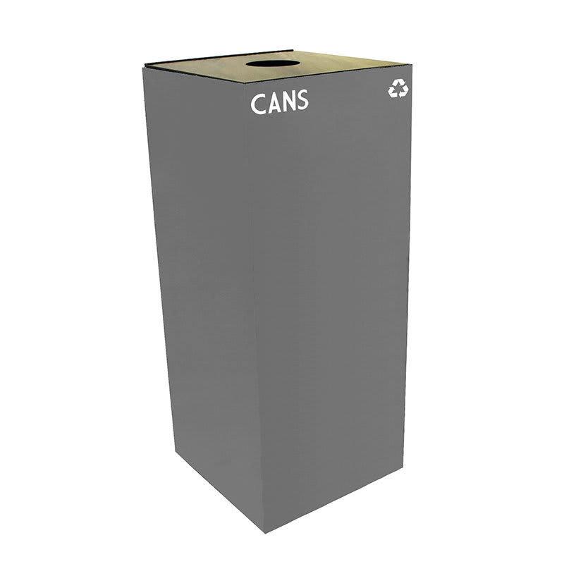 Witt 36GC01-SL 36 gal Cans Recycle Bin - Indoor, Fire Resistant