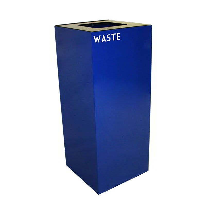 Witt 36GC03-BL 36 gal Indoor Decorative Trash Can - Metal, Blue