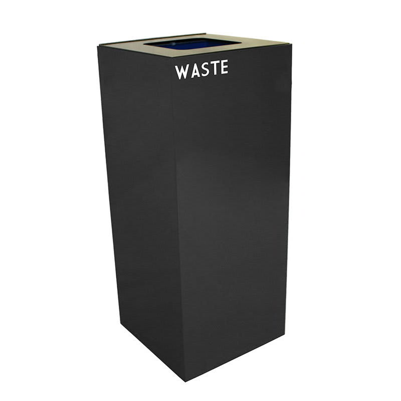 Witt 36GC03-CB 36-gal Indoor Decorative Trash Can - Metal, Charcoal