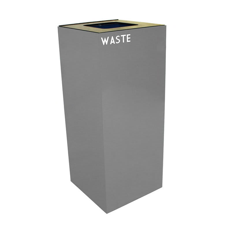Witt 36GC03-SL 36 gal Indoor Decorative Trash Can - Metal, Slate
