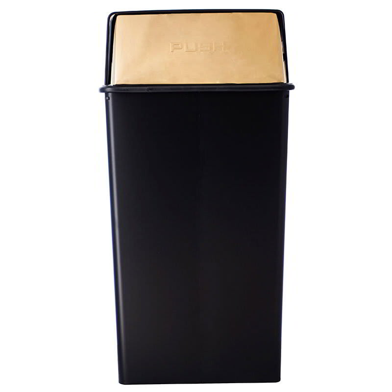 Witt 36HT-11 36-gal Indoor Decorative Trash Can - Metal, Black
