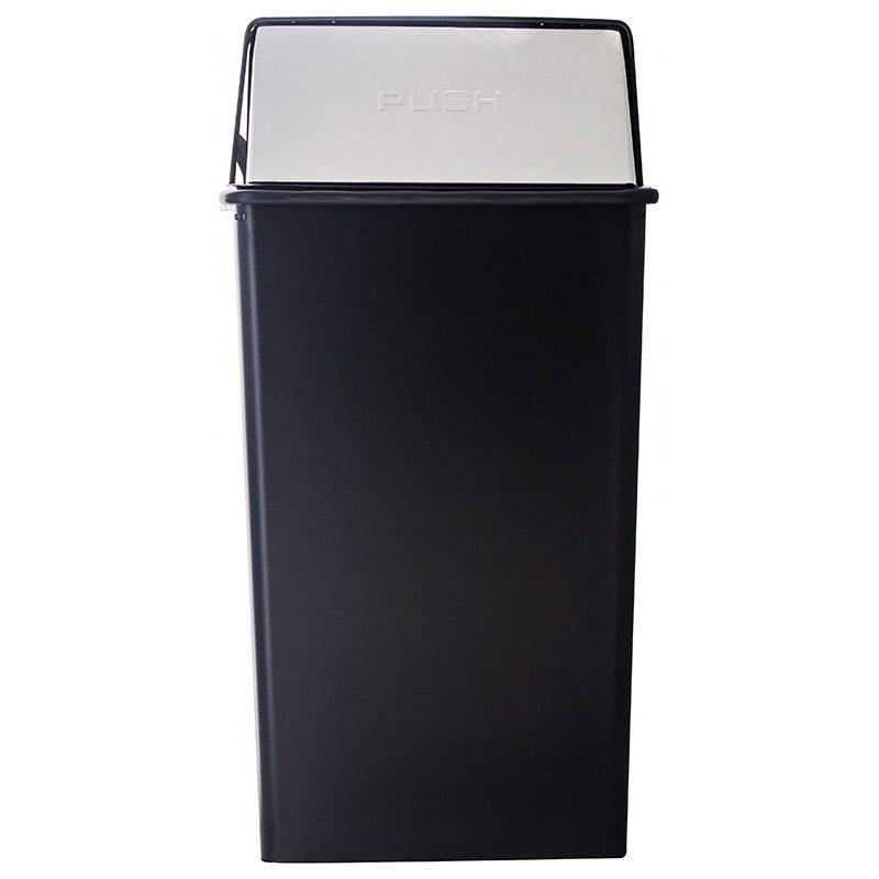 Witt 36HT-22 36 gal Indoor Decorative Trash Can - Metal, Black