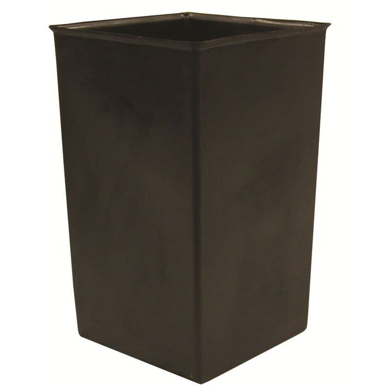 Witt 36R 36-gal Square Rigid Trash Can Liner, Plastic - Black