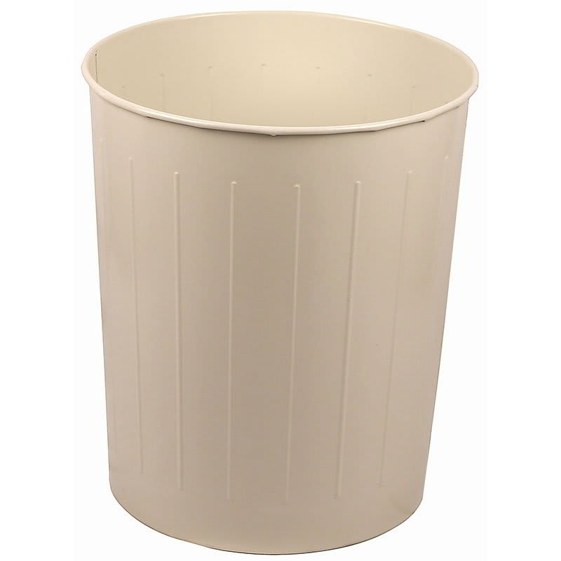 Witt 4AL 26-qt Round Waste Basket - Metal, Almond