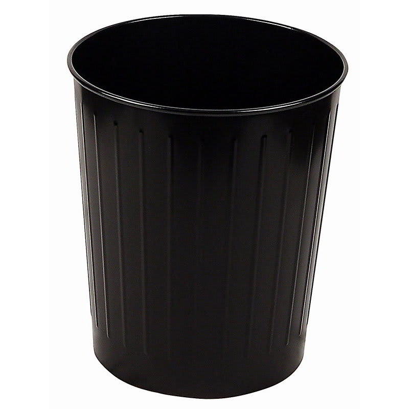 Witt 4BK 26-qt Round Waste Basket - Metal, Black