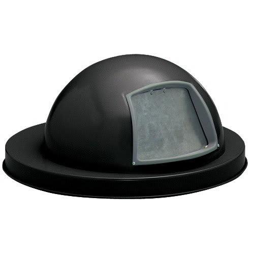 Witt 5555BK Round Dome Trash Can Lid - Metal, Black